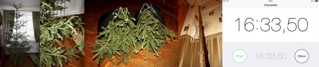 Алгоритм уборки новогодней ели