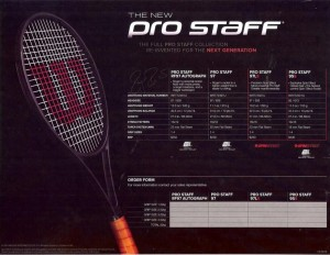 Wilson New Pro Staff Roger Federer
