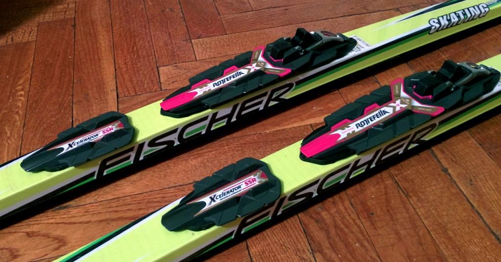 Лыжи без NIS с креплениями Rotefella