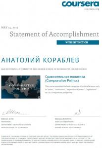 Сертификат сравнительная политика